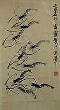 SCROLL PAINTING ON PAPER, ATTRIBUTED TO QI BAI-SHI
