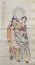 SCROLL PAINTING ON PAPER, ATTRIBUTED TO SHEN XIN-HAI