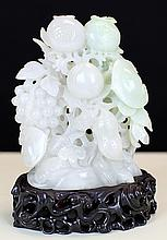 WHITE JADE CARVING WITH
