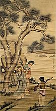 SCROLL PAINTING ON PAPER, ATTRIBUTED TO GAI QI