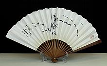 FOLDING FAN WITH PAITING, ATTRIBUTED TO PAN JIAN-YE