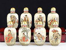 8 PIECES OF FAMILLE ROSE SNUFF BOTTLE