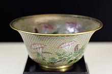 PEKING GLASS BOWL WITH FILIGREE WEB