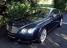 BENTLEY CONTINENTAL GT COUPE DIAMOND SERIES 6.0 W12 BI TURBO 560 TIP TRONIC, CREWE 60 YEARS, 1ere mise en circulation septembre 2006, km au compteur : 77000, peinture Bleue Météor, Sièges massants, Bluetooth, power boot ouverture et fermeture, Piano