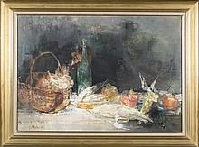 Jean Jansem still life oil on canvas.