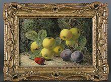 Clare, Oliver. Still life of fruit, oil on canvas.