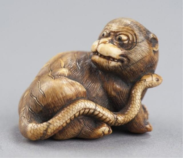 An ivory netsuke of Nuye.
