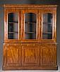 Breakfront mahogany china cabinet, 19th c.