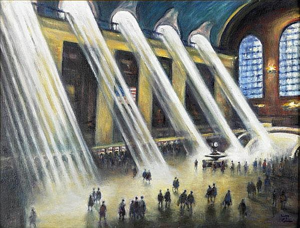 Philip Corley (Irish, b. 1944) Grand Central,