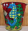 Vintage Metal Ohio Art Co. Toy Sand Bucket