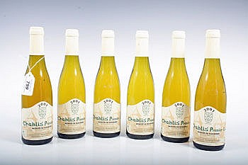 Wine- - six half bottles of Chablis Premier Cru