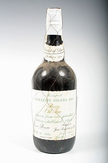 One bottle Pemartin Solera 1914 Rare Old Fino
