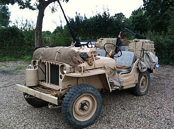 Car : 1942 Willy's Ford Jeep as used by the