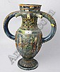 Castle Hedingham pottery puzzle jug with green,