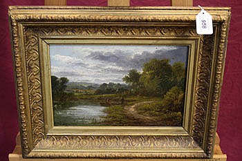 Edward A Atkyns, nineteenth century oil on panel -