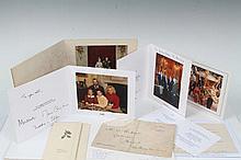 Five Royal Christmas cards - HM Queen Elizabeth II