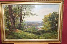 Samuel Helstead, Victorian oil on canvas in gilt f