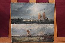 Pair 19th century English School watercolour and g