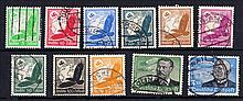 GERMANY 1934 Air set used. SG 526-536 Cat £120