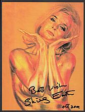 AUTOGRAPHS Shirley Eaton: Autographed on 8