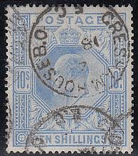 GREAT BRITAIN KING EDWARD VII 10/- used, fine. Cat