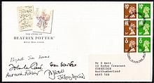 AUTOGRAPHS 1993 Beatrix Potter pane Royal Mail FDC