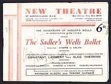 AUTOGRAPHS 1943 Sadler's Wells Ballet Theatre