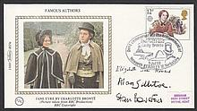 AUTOGRAPHS 1980 Authors Benham small silk FDC