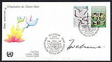 AUTOGRAPHS 1980 United Nations 35th Anniv FDC