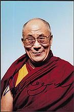 AUTOGRAPHS Dalai Lama: Autographed on 9