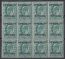 GREAT BRITAIN OFFICIALS 1903-04 Admiralty Official