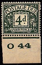 GREAT BRITAIN POSTAGE DUES 1937-38 4d dull