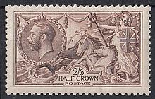 GREAT BRITAIN KING GEORGE V 1918-19 Bradbury 2/6d
