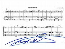 AUTOGRAPHS Trevor Morris: Autographed on page of