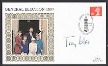 AUTOGRAPHS Tony Blair: Autographed on Benham