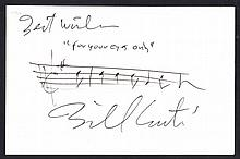 AUTOGRAPHS Bill Conti: Autographed musical quote