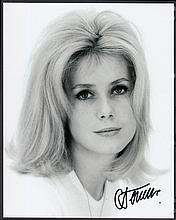 AUTOGRAPHS Catherine Deneuve: Autographed on 10