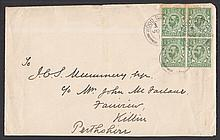 GREAT BRITAIN FIRST DAY COVERS 1911 ½d green block
