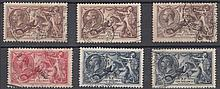 GREAT BRITAIN KING GEORGE V Seahorses used 2/6d