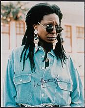 AUTOGRAPHS Whoopi Goldberg: Autographed on 10