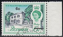 BERMUDA 1970 6c on 6d grey-blue, emerald & light
