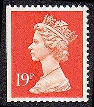 GREAT BRITAIN DECIMAL MACHIN DEFINITIVES 19p Litho