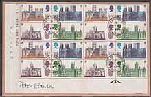 1969 Cathedrals: 5d cyl block of 16, 9d & 1/6d cyl