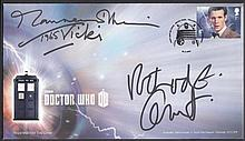 2013 Doctor Who Royal Mail single value FDC signed