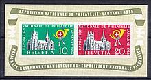 1955 National Philatelic Exhibition Lausanne Min S