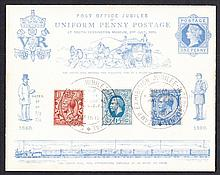 GREAT BRITAIN FIRST DAY COVERS 1912 1½d & 2½d GV Royal Cypher Defins together on 1890 Uniform Penny