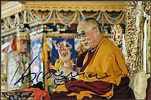 AUTOGRAPHS Dalai Lama: Autographed on 6