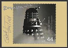 AUTOGRAPHS Carole Ann Ford & Roger Lloyd Pack autographed on 1999 Doctor Who Mint PHQ card.
