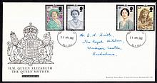 GREAT BRITAIN FIRST DAY COVERS 2002 Queen Mother Royal Mail FDC with Windsor Castle CDS. Handwritten