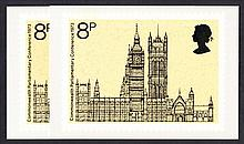 GREAT BRITAIN PHQ CARDS 1973 Parliament x 2 Mint, fine. Cat £80 (2 cards)